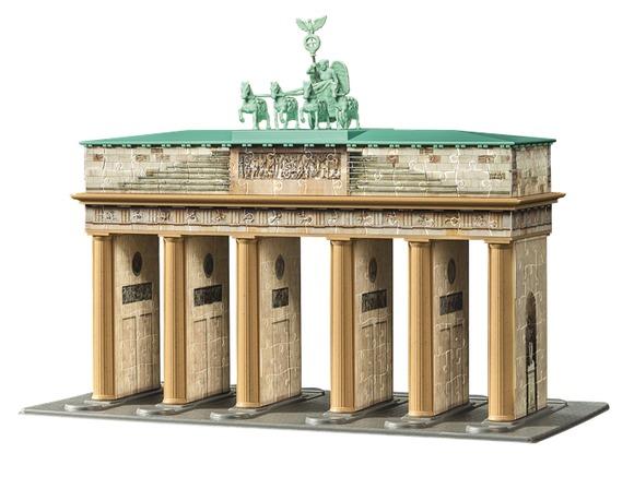 3D Пазл Берлин - Бранденбургские ворота, 324 штС помощью изогнутых, гибких и плоских пластиковых деталей объемного  пазла вы сможете собрать уменьшенную копию знаменитых ворот.  Дополнительные аксессуары придадут зданию законченный вид!: Детали пазла изготовлены из прочного высококачественного пластика и имеют особую изогнутую форму, идеально стыкуются друг с другомНе нужен клейКаждая деталь с внутренней стороны пронумерована, для облегчения сборкиДополнительные характеристики:Размер модели  30*10*27 см Размер упаковки  37*27*7 см<br>