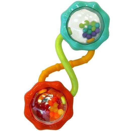 Погремушка Весёлые шарикиИгрушка Веселые шарики 8188 от фирмы Bright Starts поможет поднять настроение и станет самой любимой погремушкой для карапуза. Предназначена игрушка для малышей с трёхмесячного возраста. Особенности: наличие удобного для маленьких ручек корпуса; погремушка прозрачная, имеет внутри яркие шарики, что даёт возможность крохе следить за звуком и движениями; многообразие и разноцветность небольших шариков привлечёт детское внимание. Игрушка поможет в формировании детского интеллекта, моторики, зрения и слуха. Игрушка Bright Starts Веселые шарики поможет малышу весело провести время!ОсобенностиПогремушка с разноцветными шарикамиРазличные текстурыРазноцветные шарики отражаются в зеркальной поверхностиДополнительные характеристикиРазмеры товара: 5 * 4 * 14 смРазмеры коробки: 9 * 4 * 19 см<br>
