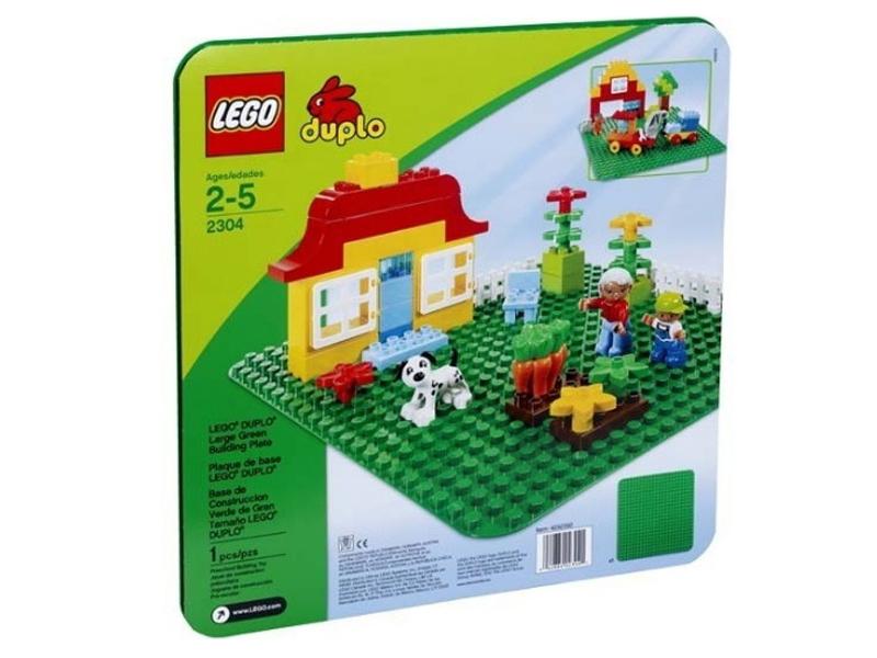 Конструктор LEGO DUPLO 2304 Большая строительная пластина набор bondibon копилка в технике декопатч цыпленок bb1692