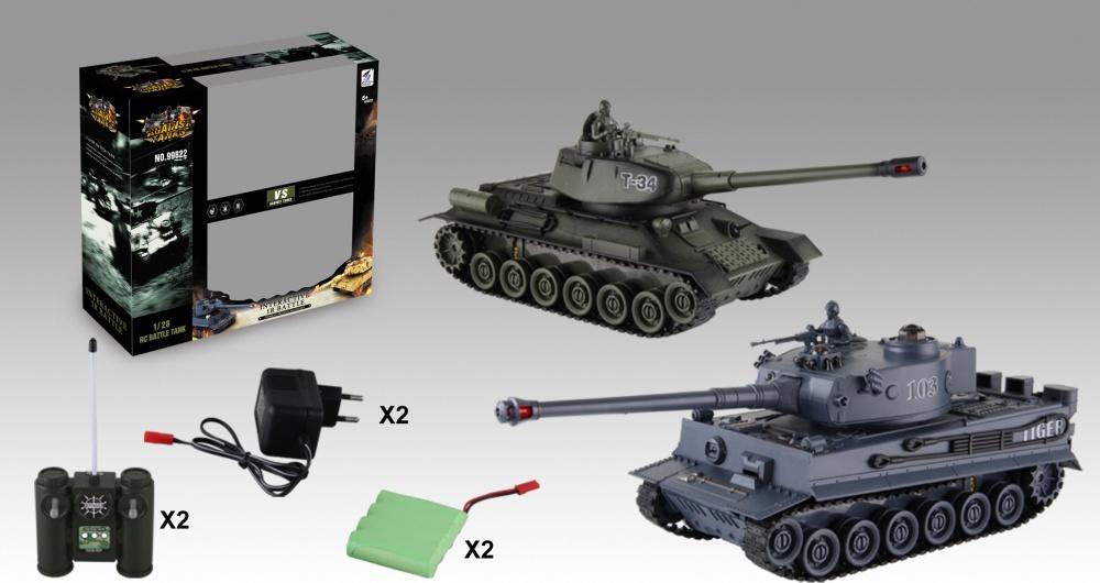 Танковый бой р/у (35 см) (з/у + акк)Радиоуправляемый танк. Размеры танка ДхШхВ:340х120х110. Поворот башни на 180 градусов, звуковые эффекты, резиновые гусеницы, световые эффекты, система инфракрасного наведения. Аккумулятор и зарядное устройство в комплекте<br>