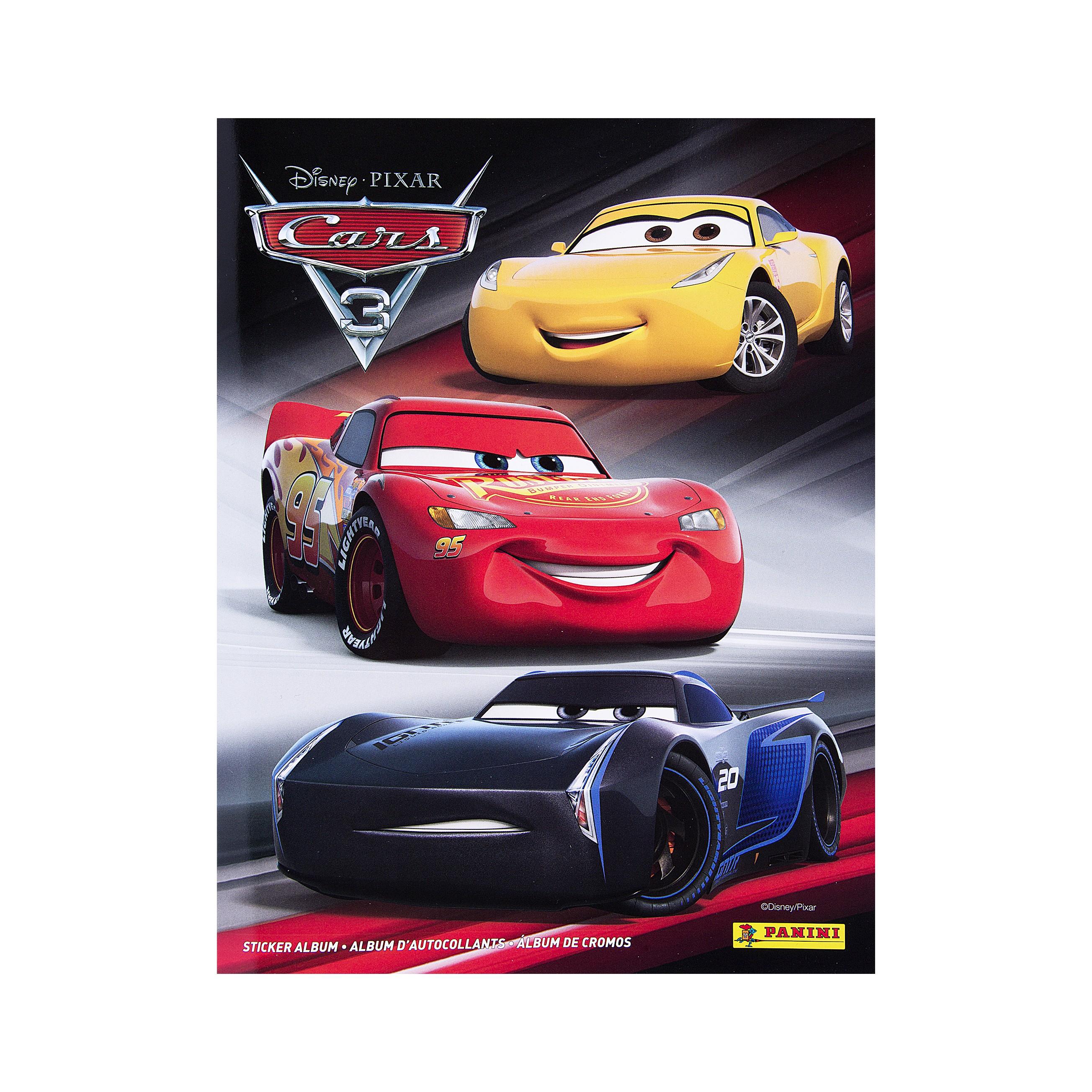 Panini Альбом для наклеек Тачки 3 15 наклеек в комплектеНовое поколение ультрасовременных гонщиков намеревается изменить мир гонок с помощью технологий и самых современных методов обучения. Что будет делать с этим Молния Маккуин, знаменитый гоночный автомобиль и чемпион Кубка Поршня? Коллекция наклеек посвящена третьему мультфильму студий Disney и Pixar по самой популярной франшизе для мальчиков – «Тачки». Всего для вклеивания 208 наклеек, из них: 144 базовые, 24 блестящие, 4 фигурные, 24 для постера и 12 объемные, формат 210х270мм, 32 с.<br>