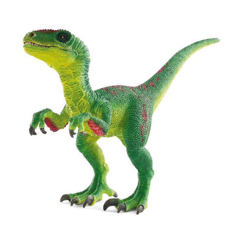 ВелоцирапторФигурка велоцираптора от немецкой торговой марки «Шляйх» откроет ребенку новые знания о мире динозавров. Так, этот вид хищных животных жил на земле около 70-80 млн. лет назад. Перед тем, как приобрести очередную игрушку для коллекции дикой фауны расскажите  малышу историю велоцираптора и его происхождения.Фигурка выполнена из прочного каучукового пластика. Выглядит изделие очень реалистично благодаря тому, что каждая деталь, каждая чешуйка кожи бережно прорисована вручную. Двуногий динозавр поможет ребенку развить фантазию, восстановить ход истории, а также стимулирует интерес к географии и биологии, любознательность и стремление к расширению кругозора. Особенно интересна такая игрушка будет для мальчиков.Велоцираптор, представленный на сайте Hamleys, отличается выгодной ценой. Вы можете заказать его и другие игрушки на сайте интернет-магазина с доставкой на дом, а также купить в розничных магазинах Москвы, Санкт-Петербурга и Московской области.<br>