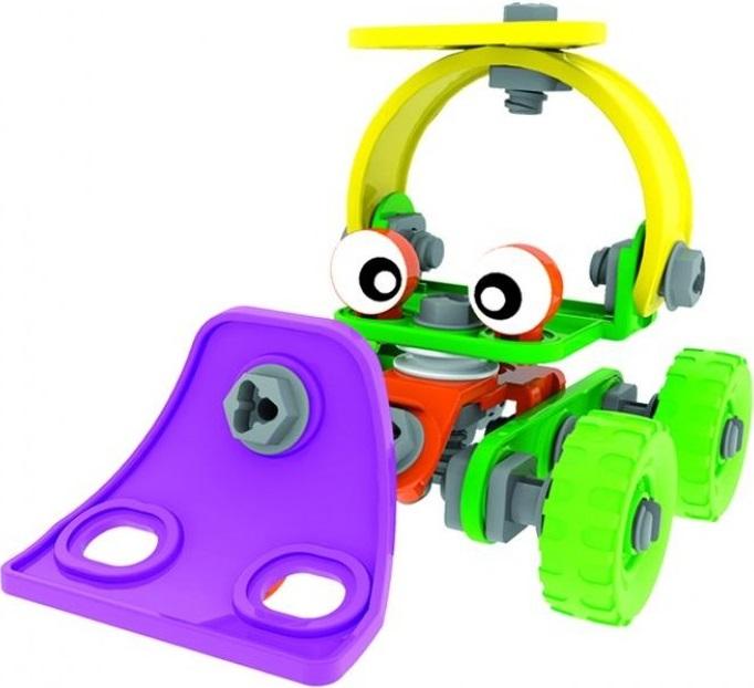 Конструктор 6 в 1 Bebelot BAsic Авто-мото транспортКрасочные машинки выполнены из высококачественного пластика, полностью безопасного для детского здоровья. Увлекательный процесс конструирования займет Вашего непоседу на длительное время, развивая координацию и ловкость движений, зрительное и тактильное восприятие окружающих предметов, их форм и цветов.Красивый, яркий, не очень сложный конструктор для малышей из линейки конструкторов Bebelot, которые помогут вашему малышу познать азы конструирования и откроют двери в удивительных мир конструкторов!<br>