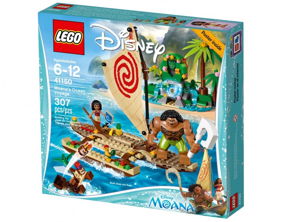 Конструктор Lego Disney Princess Путешествие Моаны через океанОтправляйся в плаванье на лодке вместе с Моаной, её другом, полубогом Мауи, и петушком Хейхей. А пока вы неспешно плывёте по течению, ты можешь изучить карту звёздного неба и подкрепиться вкусными фруктами. Берегись подлой Какаморы, которая попытается украсть у Моаны сердце Те Фити! Пройди все испытания и помоги превратить остров в безмятежное и зелёное райское место.<br>
