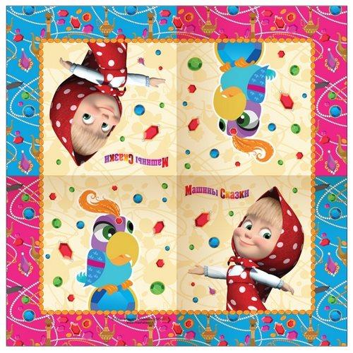 Купить Набор салфеток Маша и Медведь - Машины сказки, 20 шт., 33 х 33 см