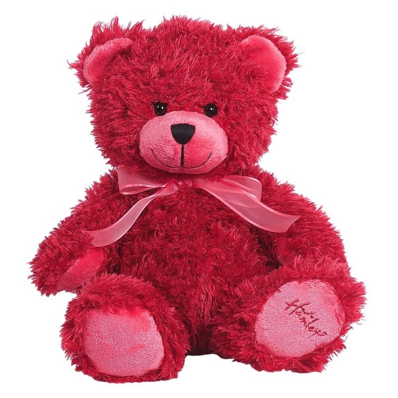 Купить Игрушка плюшевая Медведь , малиновый, 25 см.