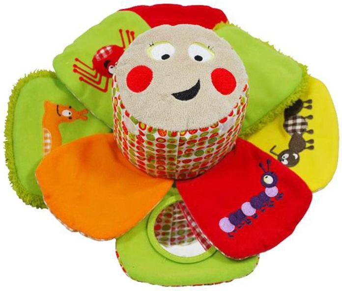 Deglingos Веселый Огород - Развивающая ЦветочекРазвивющая игрушка для малышей в виде мягкого цветка. Игрушка мягкая, приятная на ощупь, поможет развить малышу мелкую моторику, хватательнй рефлекс, поднимет настроение и будет интересна пока длится детство.<br>