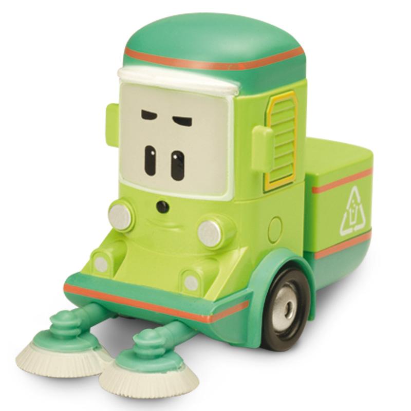 Металлическая машинка Робокар Поли и его друзья - Клини, 6 смЭта миниатюрная машинка станет постоянным участником игр ребенка, а все потому, что она выполнена в виде Клини — героя знаменитого мультфильма «Робокар Поли и его друзья». Клини работает на очистительной станции, собирая и перерабатывая отходы, он любитель порядка и чистоты. Игрушка отличается большим сходством со своим прототипом из мультфильма, имеет яркую расцветку и интересные декоративные элементы, которые представлены улыбочкой чудесного автомобиля и длинными ручками-щетками. Машинку можно использовать не только в качестве игрового персонажа, но и, к примеру, поставить его на полку в детской комнате, где он будет весьма красиво смотреться.от 3 летГерой: Робокар Поли и его друзья / Robocar PoliДля мальчиковЦвет: салатовый, зеленый, оранжевый.Материалы: металл.Размер упаковки: 14 х 5 х 16 см.Размер игрушки: 6 см.<br>