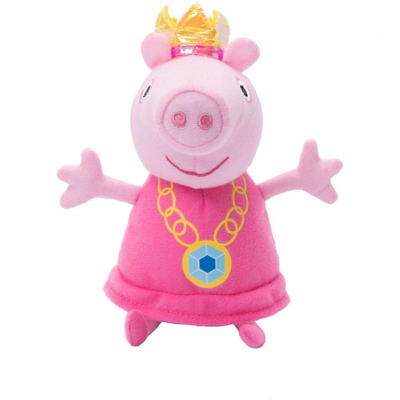 Мяг.игр Пеппа-принцесса 20 см т.м. Peppa PigМягкая игрушка Свинка Пеппа изображает главную героиню популярного мультипликационного сериала, который демонстрировался более чем в ста восьмидесяти странах мира. В этот раз забавная свинка выступает в роли принцессы, на ее голове одета золотая украшенная камнями корона, а ее лапки распахнуты, словно приглашая в объятия.<br>
