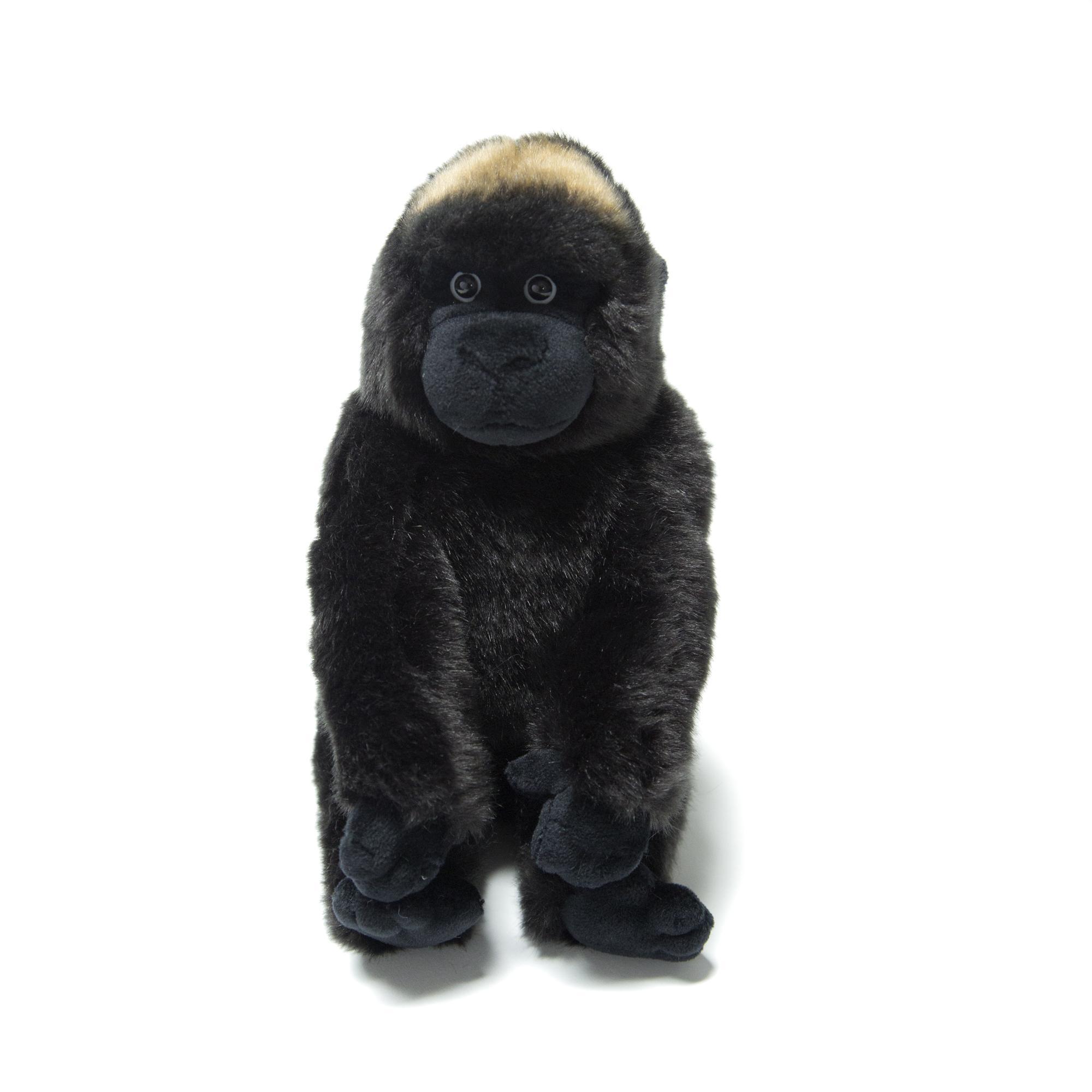 Купить Игрушка плюшевая Детеныш Гориллы , серый, 18 см.