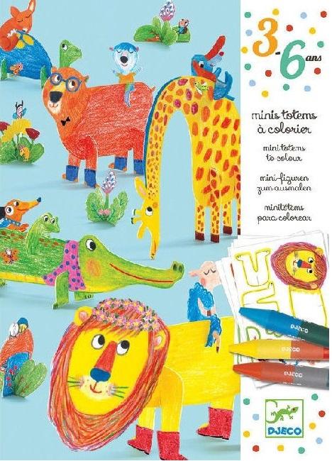 Набор для творчества Djeco ДрузьяПревосходный набор для творчества Друзья от французского производителя Djeco поможет раскрыть творческий потенциал вашего ребенка! Детям непременно придется по вкусу этот замечательный набор для творчества. С его помощью они смогут самостоятельно раскрасить мини-изображения забавных и дружелюбных животных. Дети смогут раскрасить изображения, добавить наклейки, выдавить получившееся цветное изображения из листа и придать ему форму. В набор входит: 6 листов с животными для раскрашивания и выдавливания,6 цветных карандашей,лист с наклейками,пошаговая инструкция.<br>