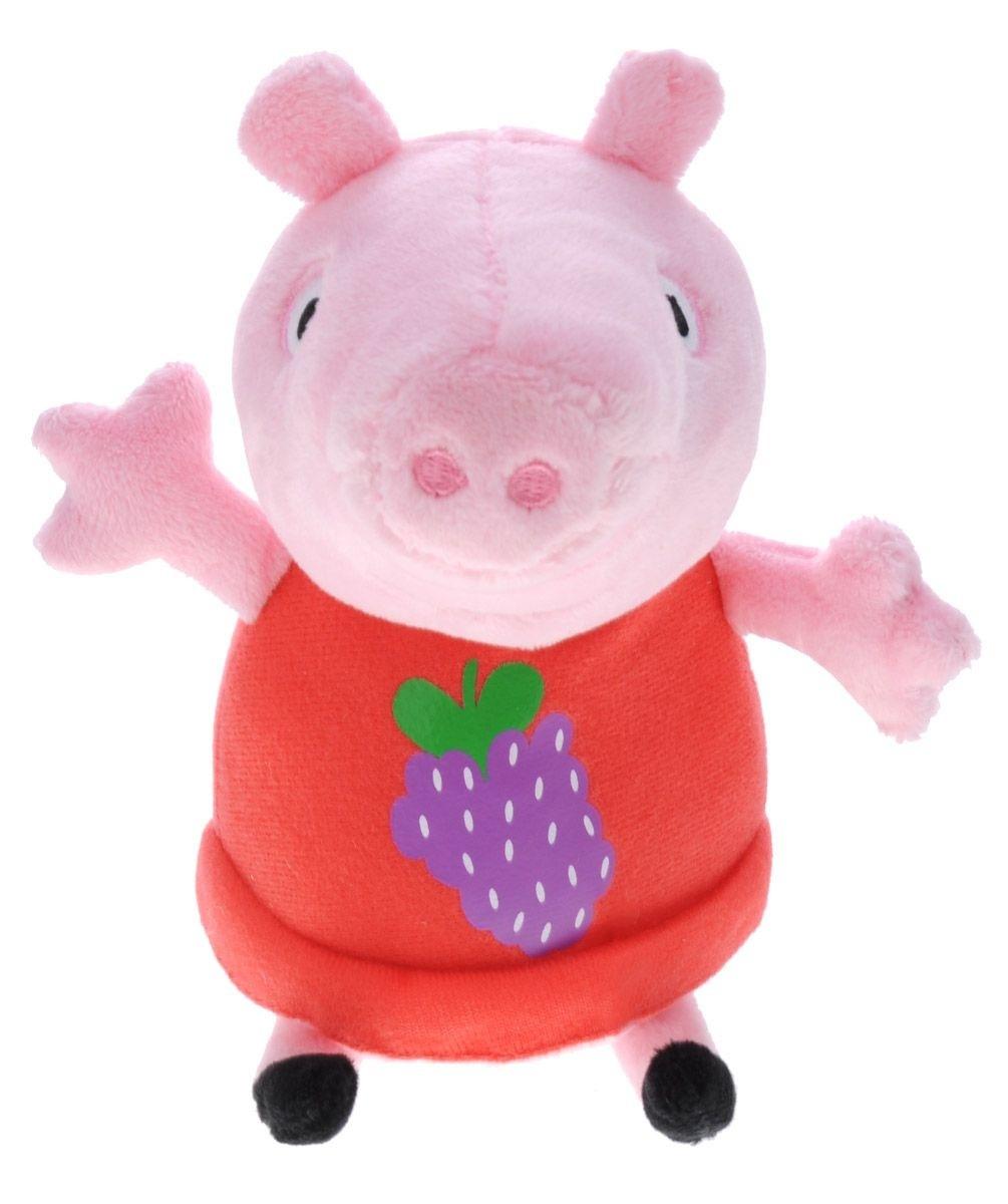 Мягкая игрушка «Пеппа с виноградом», Peppa Pig росмэн мягкая игрушка пеппа с виноградом 20 см свинка пеппа
