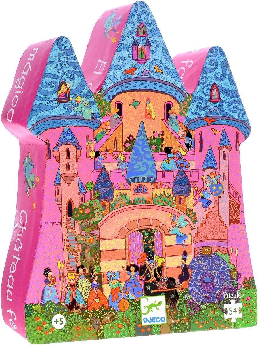 Пазл, Сказочный замок 1Пазл для малышей Djeco Сказочный замок - красивая игра, состоящая из 54 элементов.Яркая игра понравится вашему ребенку. Он с удовольствием будет не только играть, но и всесторонне развиваться. Пазл научит ребенка усидчивости, аккуратности, научит логически рассуждать. Малыш узнает много интересного о мире карт. Собирание пазла является развивающим занятием и интересной игрой!Пазл можно не только собирать, но и играть с ним. Эта игра научит вашего ребенка размышлять. Пазл поможет сплотить всю семью в часы досуга, а дети узнают прекрасное множество цветовой гаммы.<br>