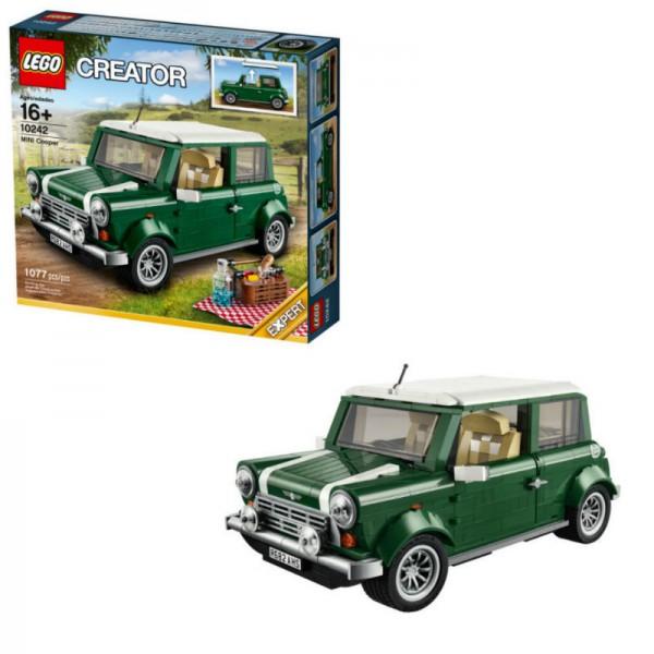 Конструктор Lego Creator Автомобиль MINI CooperМодель автомобиля Mini Cooper прекрасно детализирована и выглядит очень реалистично. Её корпус выполнен из редких тёмно зелёных деталей, которые в точности копируют оттенок оригинального автомобиля. Контрастным элементом служит белоснежная крыша и полосы на капоте, повторяющие концепцию комбинированной окраски кузова.Размер в собранном виде: 11?25?14 см.Количество деталей: 1077 шт<br>