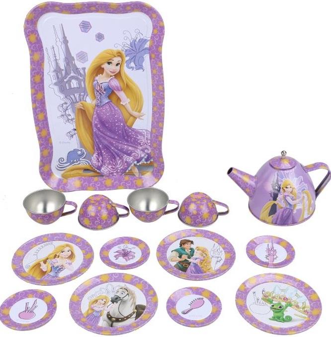 Набор чайной посуды Disney РапунцельГлавной особенностью набора является фирменное и красочное оформление, выполненное совместно с компанией Disney. Каждый элемент тщательно проработан и детализирован.В набор чайной посуды «Рапунцель» входит 15 предметов<br>
