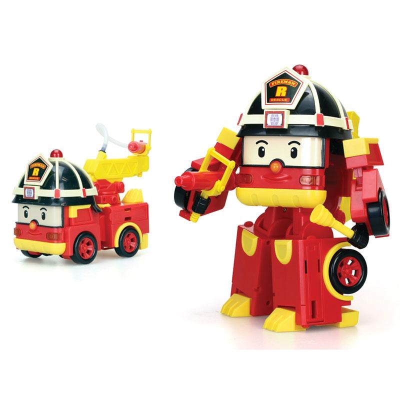 Рой мега трансформерНовинка 2016.Рой – персонаж мультсериала Robocar Poli. Эта машинка-пожарный вместе со своими друзьями всегда приходит на помощь!«Рой мега трансформер» - игрушечная копия одноименного героя, которой ваш ребенок несказанно обрадуется. Всего за несколько простых поворотов машинка легко превращается в интересного робота (высота 15 см).У Роя подвижная голова, на которой находится проблесковый маячок – включить его можно одним нажатием. Ручки выдвигаются (и надежно фиксируют аксессуары), ножки очень устойчивы. Пожарный кран поднимается и опускается, когда Рой собран в машинку.Игрушка выполнена из высокопрочного пластика, поэтому не потеряет своих качеств даже после многократных трансформаций из машинки в робота и обратно.В набор входят: машинка-трансформер, огнетушитель, шланг для тушения, 2 батарейки LR44.Воссоздайте сюжет из любимого сериала вместе с ребенком, или придумайте свой – увлекательный и интересный. С игровым набором «Рой мега трансформер» вам точно не будет скучно!Продукция сертифицирована, экологически безопасна для ребенка, использованные красители не токсичны и гипоаллергенны.<br>
