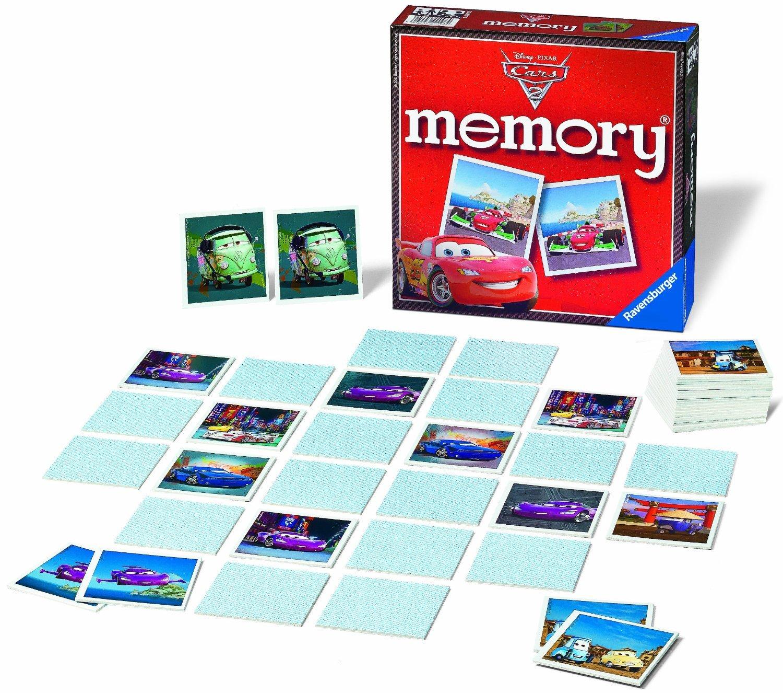 Настольная игра Мемори Тачки 2Настольная игра Мемори - Тачки 2 состоит из 72 карточек с изображением персонажей из любимого детского мультфильма. Сначала карточки выкладываются картинками вверх на некоторое время. Затем все карточки переворачиваются рубашкой вверх, после того как последняя карточка перевернута, начинается игра. По очереди дети выбирают по 2 карточки, которые они запомнили. Они должны содержать два одинаковых изображения. Выигрывает тот, кто соберет больше всего карточек. Увлекательная игра хорошо развивает память, логическое мышление, наблюдательность и внимание.<br>
