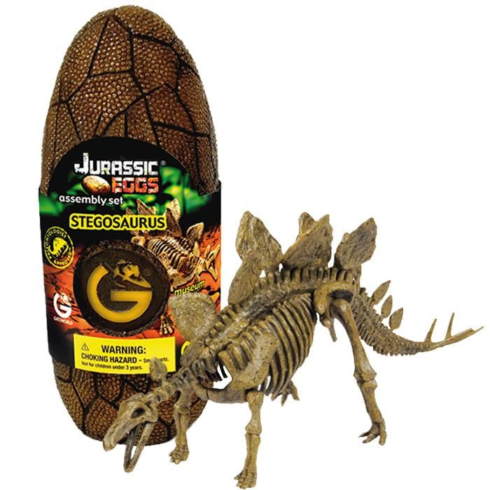 Сборная модель динозавра в яйце Jurassic eggs - Стегозавр конструкторы geoworld сборная модель динозавра в яйце jurassic eggs стигимолох n14 деталей