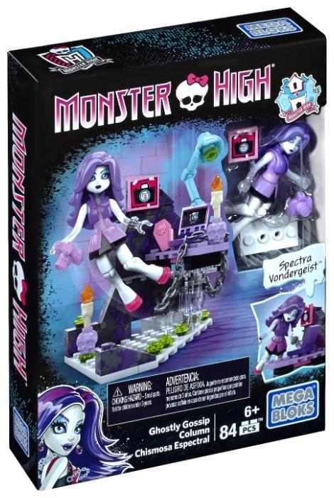 Mega Bloks Monster High DLB79 Рубрика призрачных сплетенклассический конструктор для девочек<br>