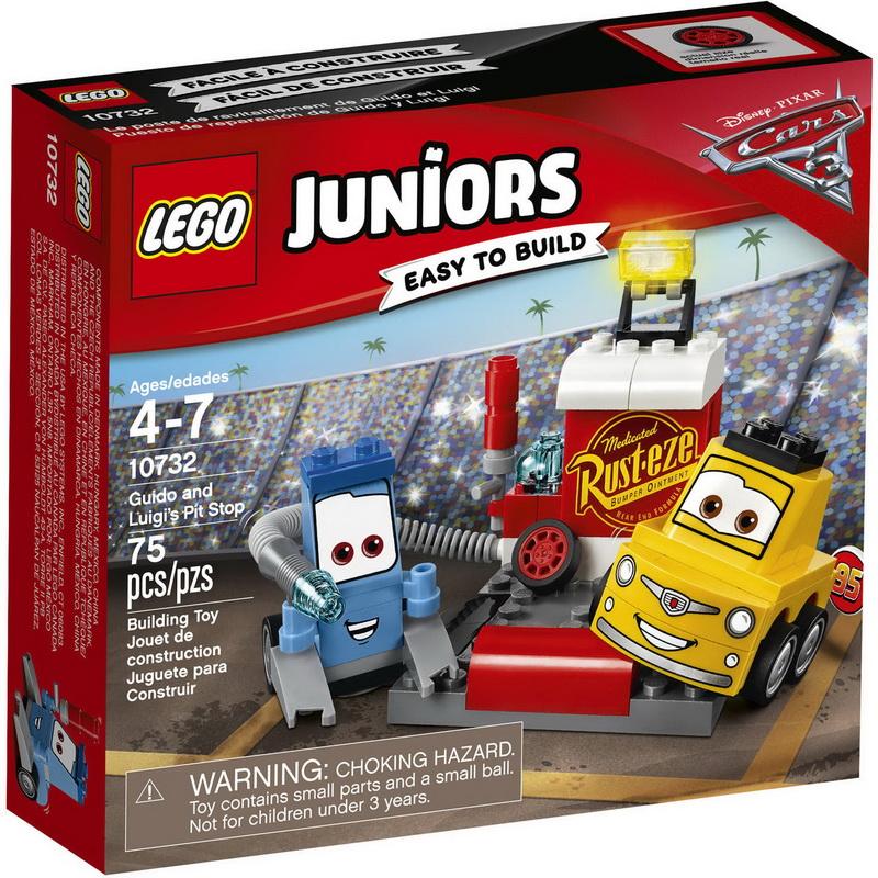 Конструктор LEGO Juniors 10732 Пит-стоп Гвидо и Луиджи lego lego juniors ралли на гоночных автомобилях