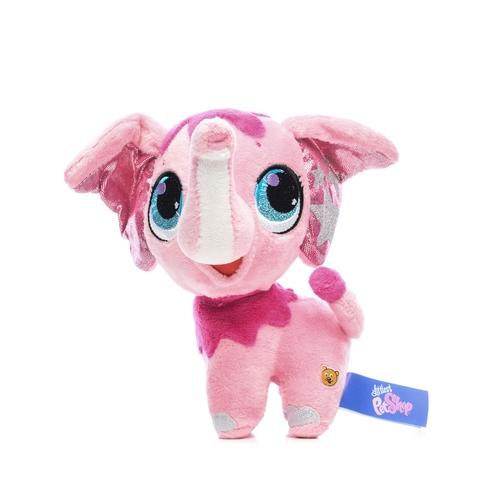 Мягкая игрушка Littlest Pet Shop - Слоник (звук), 16 смМилейший розовый слоник имеет забавную озвучку. К тому же он очень мягкий и приятный на ощупь. На поверхности слоника нет пластиковых деталей, потому он будет безопасен и для малышей. Мордочка слоника вышита нитками. Внутренняя поверхность ушей слоника пошита из ткани с блестками, на которой красуются звезды.<br>