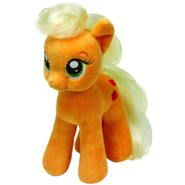 Мягкая игрушка Beanie Babies My Little Pony - Эпплджек, 18 см