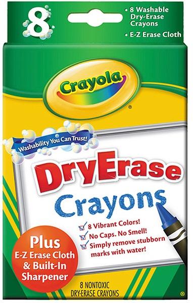 Стираемые восковые мелки Crayola, 8штЭти мелки от компании Crayola с легкостью могут быть смыты с любых поверхностей. Поэтому родителям не придется беспокоиться в моменты, когда их ребенок захочет проявить во всю свою творческую натуру!<br>