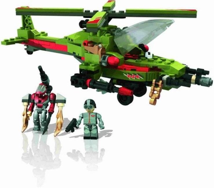 Набор конструктора KRE-O СражениеВ комплекте этого набора ребёнок обнаружит: 174 детали для сборки мощного боевого вертолета с ракетами. Дополнительно предусмотрены 2 мини фигурки креонов - пилота и инопланетянина с игровыми аксессуарами в виде уникальных моделей оружия. Элементы конструктора из серии KRE-O совместимы со стандартными деталями других производителей: Lego, Mega Bloks, Brick. Такое уникальное приобретение внесет приятное разнообразие в повседневные детские игры и забавы, развивая зрительное и тактильное восприятие, мелкую моторику, проявление фантазии и воображения. Все детали конструктора изготовлены из нетоксичного пластика и не содержат химикатов, вызывающих аллергию на чувствительной детской коже.<br>