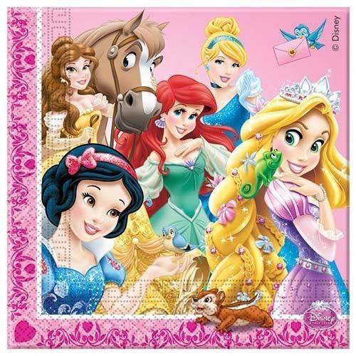 Салфетки Принцессы и животные 20 шт СладостиПригласите на ваш домашний праздник красавицу Белль и ее верного коня Филиппа, длинноволосую Рапунцель и хамелеона Паскаля, Белоснежку и лесного бурундука, Золушку и воробья, Русалочку и ее морских друзей. Все принцессы и их животные обязательно появятся на вашей вечеринке вместе с новой линейкой праздничных аксессуаров от греческого бренда Procos. Мягкие салфетки изготовлены из безопасных материалов, экологически чистых и безопасных для здоровья ребенка и окружающей среды<br>