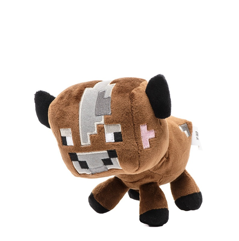 Плюшевая игрушка Minecraft - Детеныш коричневой грибной коровы, 18 смМягкая игрушка Детеныш грибной коровы выполнен по образу и подобию одного из обитателя популярной компьютерной игры Minecraft. Игрушка имеет квадратное тело и квадратную голову, которые придают детенышу комичности, а пиксельная мордочка делает его очень забавным. Приятная на ощупь плюшевая игрушка придется по душе как мальчику, так и девочке.<br>