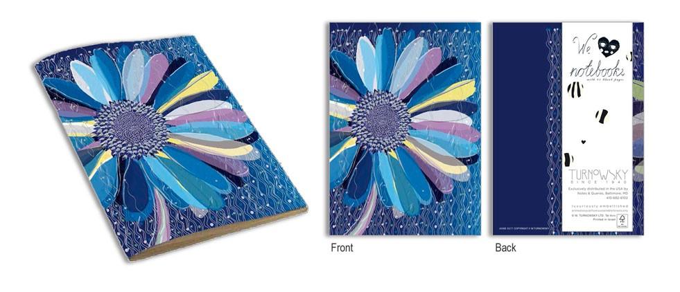 TURNOWSKY Блокнот МаргариткаКрасочный блокнот в мягкой обложке Маргаритка от производителя Turnowsky позволит Вашим идеям и планам всегда оставаться под рукой.Превосходные дизайнерские блокноты от всемирно-известного бренда Turnowsky станут замечательным подарком для каждого! Стильные и необычные блокноты помогут вам воплотить в жизнь самые лучшие ваши идеи, а также не пропустить важные события.Блокнот Маргаритка замечательно подойдет в качестве подарка близкому человеку, коллеге или подруге. На синем фоне блокнота изображен большой цветок с разноцветными лепестками.<br>