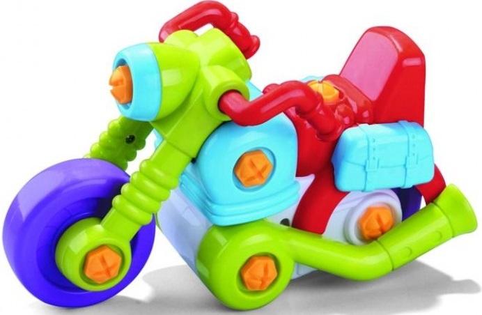 Конструктор Bebelot BAsic МотоциклСоберите яркий красочный мотоцикл из пластиковых деталей! Крупные части конструктора и прочные инструменты делают сборку безопасной и простой. Конструктор развивает пространственное мышление, мелкую моторику, фантазию, умственные способности и усидчивость.<br>