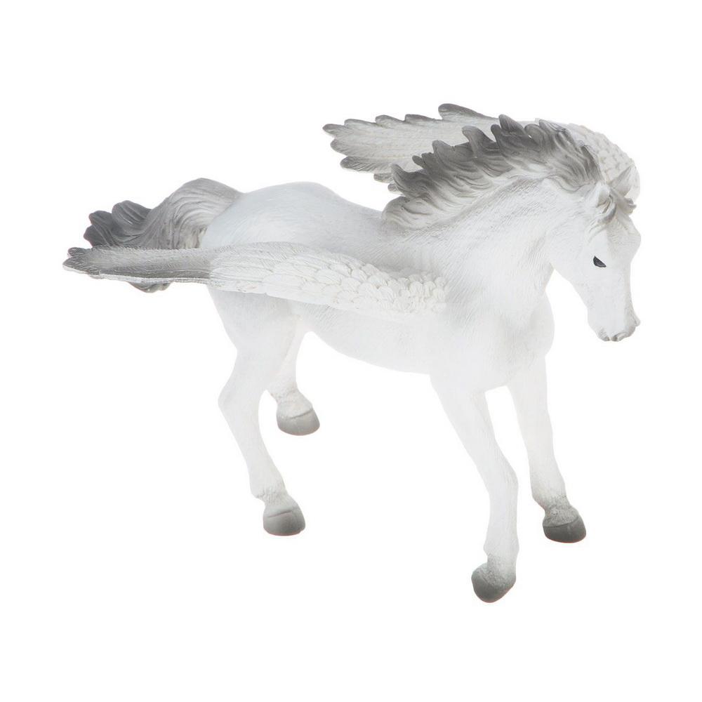 Пегас (XXL)Фигурка Mojo Пегас олицетворяет древнегреческого мифического коня, который, согласно легенде, имел крылья и летал быстрее ветра. Он также знаменит своими героическими подвигами. Представленный конь уверенно и гордо стоит, расправив крылья, словно готовясь к полету. Выполнена фигурка в белом цвете, при этом нижняя часть мордочки, грива, хвост, концы крыльев и копыта - серые.Фигурки Mojo познакомят детей с окружающим миром, развивают творческие способности и расширяют возможности ролевых игр. Все фигурки выполнены из высококачественных материалов с максимальной точностью и раскрашены вручную.<br>