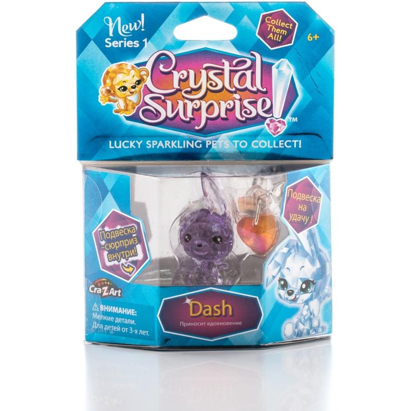 Фигурка Crystal Surprise - Кролик Dash с 2 подвескамиФигурка Crystal Surprise - Кролик Dash с 2 подвесками поразит вас своим необычным образом. Пластиковая мини-фигурка сделана из прозрачного материала, дополненного цветным оттенком. Как только луч света попадет на игрушку, она засияет, переливаясь и мерцая на солнышке.У кролика милое выражение мордочки, которое не оставит вас равнодушными к этому очаровательному созданию. Зайку по имени Дэш можно будет поставить на полочку в качестве сувенира или носить ее с собой в сумочке или кармашке, ведь прогулка с другом всегда веселее! Также эта игрушка подарит вам творческие идеи и волну креатива.В наборе также есть две подвески, которыми вы сможете украсить одежду, рюкзак или связку ключей.<br>