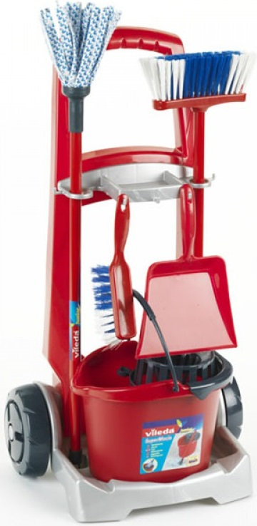 Игровой набор для уборки Klein Vileda Junior набор для уборки пола vileda ультраспид про двухведерный стартовый с транспортировочной ручкой