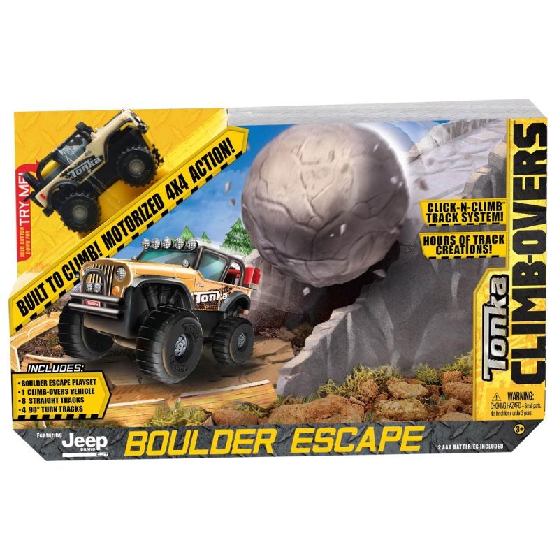 Купить со скидкой Трек Tonka Climb-overs с машинкой Jeep Boulder Escape