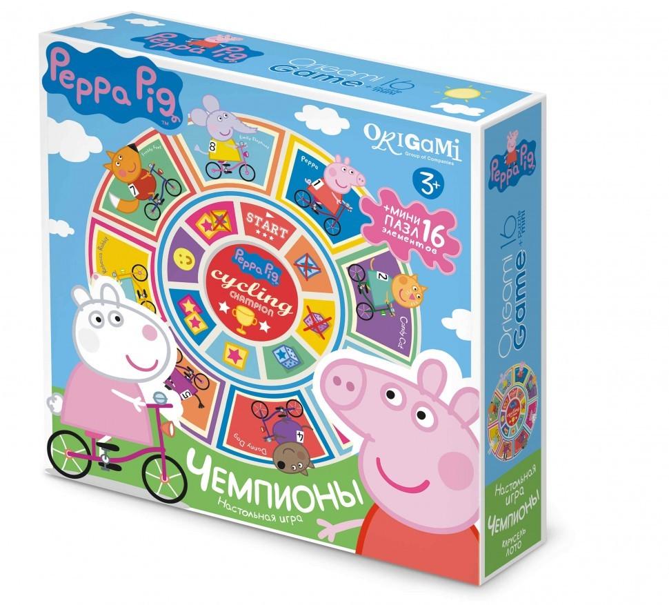 Peppa Pig.Наст.игра Карусель-лото+пазл16А.Чемпионы.01603  peppa pig наст игра карусель лото пазл16а оркестр
