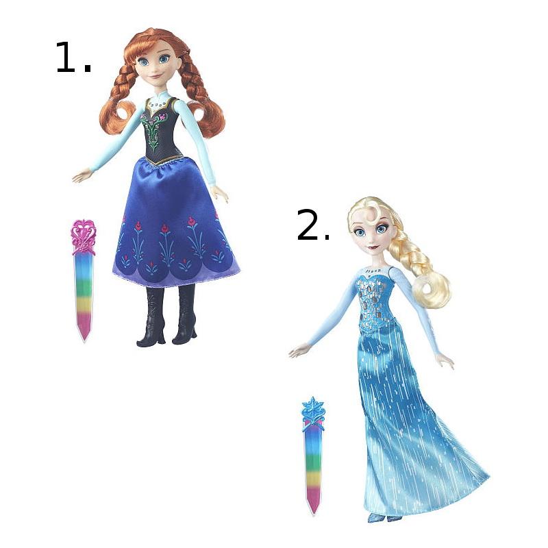 Кукла Холодное сердце - Сияющие нарядыС куклой Сияющие наряды из серии Холодное сердце от известного бренда Hasbro девочка сможет познакомиться с известной героиней популярного мультфильма. Игрушка отлично детализирована, имеет шикарный и оригинальный костюм абсолютно схожий с костюмом одноименного персонажа. Кукла имеет подвижные конечности, при чем не только руки и ноги, но даже кисти и ступни. Кукла также имеет очень приятное лицо с длинными и красивыми волосам. С такой игрушкой ребенок сможет придумать целую сюжетно-ролевую игру с участием куклы, а все выше перечисленные факторы сделают игру еще интереснее и захватывающее.Игрушка сделана из пластика, поэтому при бережном отношении сможет прослужить своему владельцу достаточно долгий срок.Внимание! Товар представлен в ассортименте. Желаемый вариант товара (Анна или Эльза) необходимо указать в комментарии к заказу. Цена указана за 1 куклу.<br>