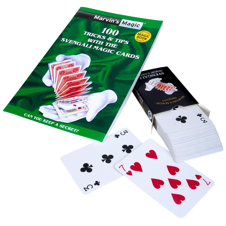 Набор фокусов «Волшебные карты свенгали» от Marvins MagicВаши руки станут быстрее взгляда. С этим великолепным набором из карт и учебника вы быстро сможете завоевать репутацию настоящего карточного волшебника. Изучите 100 магических трюков, включая проникновение карты через стекло и восстановление порванной карты. От 8 лет<br>