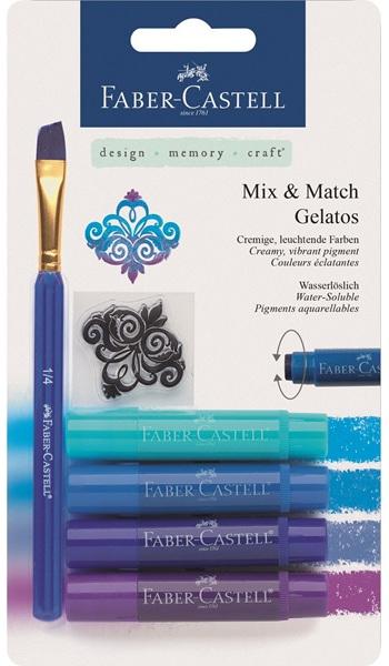 Gelatos синий, 4 шт., в блистере с маркой и кисточкойЕсли ваш ребенок активно увлекается творчеством, любит рисовать, набор Гелатос синий станет лучшим подарком для него. Набор состоит из четырех гелевых мелков разного цвета (цветовая гамма синяя), штампа и скошенной кисточки для удобного смешивания цветов, чтобы получить еще больше интересных оттенков. Этот уникальный продукт не имеет аналогов. Краски наносятся гладко и ровно, совершенно безопасны, так как не содержат в составе вредных компонентов. Мелками можно рисовать по бумаге, дереву или холсту, создавая настоящие произведения искусства. Набор будет интересен как начинающим живописцам, так и опытным художникам.<br>