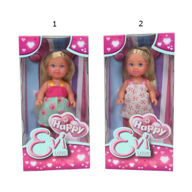 Кукла Еви в сарафанеКукла Эви от бренда Simba - это кукла, одетая в красивый летний сарафан на бретельках. У нее симпатичное личико и голубые глаза. Роскошные светлые волосы куклы можно расчесывать и делать прически. Небольшой размер куклы Happy Evi Love позволяет брать ее с собой на прогулку, также она прекрасно помещается в детские игрушечные домики.<br>