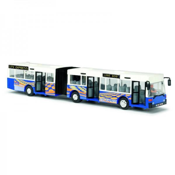 Dickie Автобус-экспресс 40 см, в ассортиментеИнерционный автобус Экспресс для городских перевозок пассажиров с раздвижными дверями и сменной табличкой с маршрутом.В комплекте фигурка водителя.Размер автобуса 40 см.ВНИМАНИЕ! Игрушка в ассортименте. При заказе необходимо указать желаемый вариант в поле комментарииЦвета на выбор - Синий, Красный, Зеленый<br>