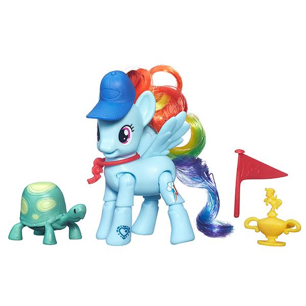 МЛП ПОНИ С АРТИКУЛЯЦИЕЙ.Всемирно известный производитель Hasbro представляет набор My Little Pony с артикуляцией, созданные по мотивам популярнейшего мультсериала My Little Pony. В набор входит фигурка - лошадка, одна из самых узнаваемых героинь мультфильма, с пышными хвостиком и гривой. К каждой из них в комплекте прилагаются дополнительные аксессуары (у Эппледжек - дерево и фигурка щенка, у Флаттершай - корзинка с цветами, лейка и фигурка зайчика, у Рэйнбоу Дэш - кубок, флажок и фигурка черепахи). У лошадок сгибаются ноги, благодаря чему игра с ними станет еще более интересной и увлекательной.Внимание! Игрушка представлена в ассортименте, выбранный вариант в поставке не гарантирован. Цена указана за 1 набор!Игровой набор с артикуляцией Май Литл Пони (My Little Pony) можно<br>