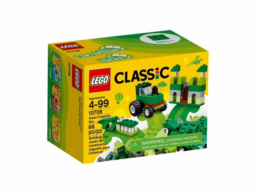 Конструктор Lego Classic 10708 Зелёный набор для творчества конструктор lego classic 10708 зеленый набор для творчества