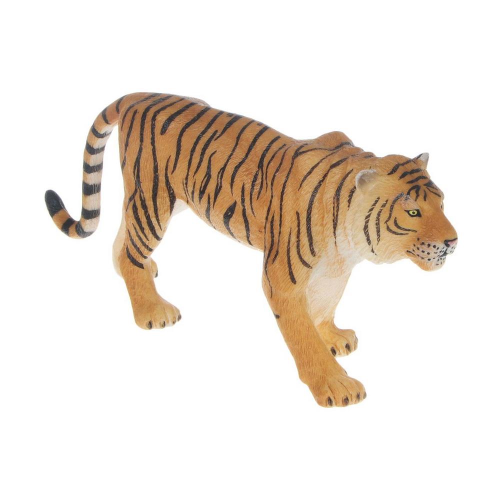 Бенгальский тигр (XL)Бенгальский тигр является самым многочисленным из подвидов тигра - с количеством 1706 особей в Индии, 200 в Бангладеш, 140 в Пакистане, 155 в Непале, 24 в Иране и 67 в Бутане и 5 в России. Полностью истреблен в Афганистане. У бенгальского тигра самые большие клыки из семейства кошачьих, которые могут превышать 8 см. Рев бенгальского тигра можно услышать на расстоянии до 3 км.Фигурки Mojo познакомят детей с окружающим миром, развивают творческие способности и расширяют возможности ролевых игр. Все фигурки выполнены из высококачественных материалов с максимальной точностью и раскрашены вручную.<br>