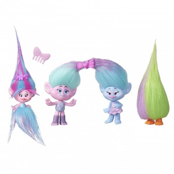 Набор TROLLS 4 герояИгровой набор Trolls «4 героя» станет отличным подарком для вашего ребенка.Фигурки выполнены в ярких привлекающих внимание цветах и отлично детализированы.Волосы троллей можно расчесывать и украшать различными аксессуарами. Игры с фигурками способствуют развитию воображения, мелкой моторики, фантазии.В набор входит: 4 фигурки, аксессуары.Высота фигурки: 10 см высотой, включая плюшевые волосы.ВНИМАНИЕ!Товар в ассортименте, вариант в поставке не гарантирован!<br>