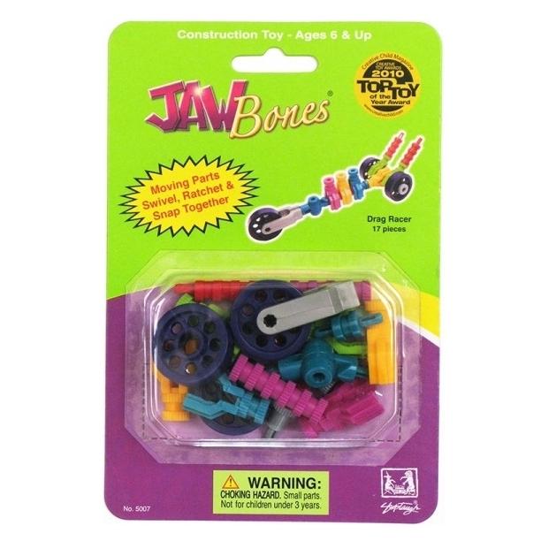 Конструктор Гоночная машина Jawbones в блистере (17 деталей) jawbones конструктор аэроплан jawbones в блистере 16 деталей