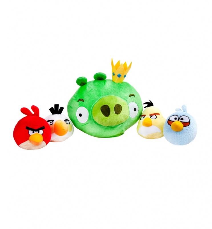 Интерактивная игра Свинка в короне и 4 птички интерактивная игра свинка с 3 птичками angry birds