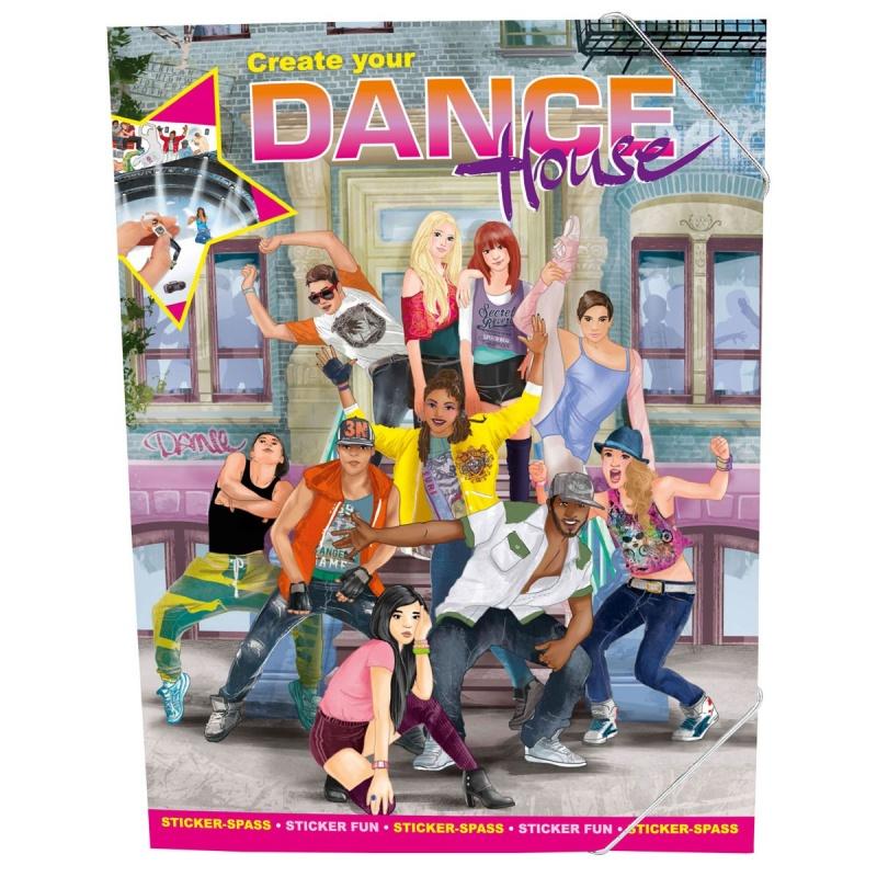 Альбом для творчества с наклейками Создай свою Школу ТанцевБлагодаря этому альбому ребенок сможет пофантазировать на тему танцев, создать свою танцевальную студию, придумать стиль и танцевальное направление для своего коллектива<br>