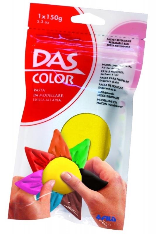 Паста DAS для моделирования, 150 гр, зеленаяНатуральная паста для моделирования. Затвердевает на воздухе. Не требует обжига, в составе натуральная глина. Яркие цвета. Готова к использованию. Готовые изделия можно покрывать лаком и раскрашивать дополнительно фломастерами, красками. Каждая упаковка содержит буклет с идеями для творчества.150 гр, зеленая.<br>